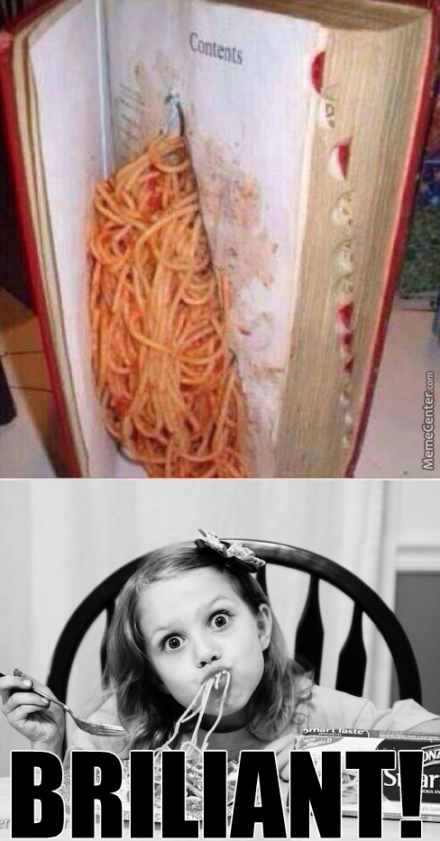 When Teacher Thinks You´re Studying But In Real You´re Eating Spaghetti