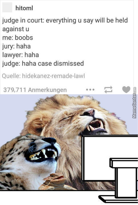 When The Judge Has Very Good Sense Of Humor