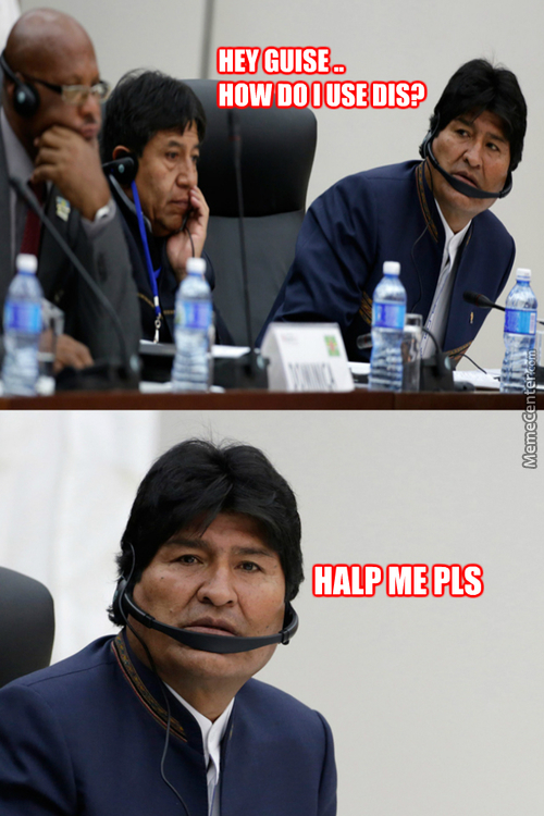 When The President Of Bolivia Dont Know How To Use Headphones Lol