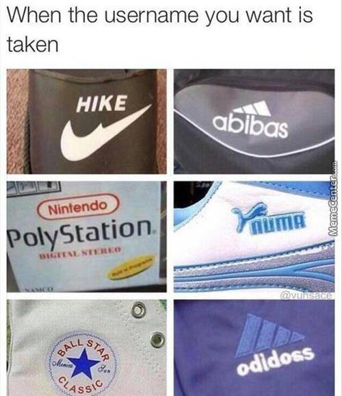 When The Username You Want Is Taken