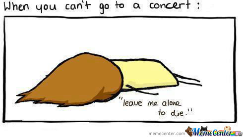 When You Can't Go To A Concert :(