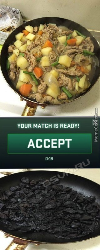 "When You Cook, But ""Your Match Is Ready""…"