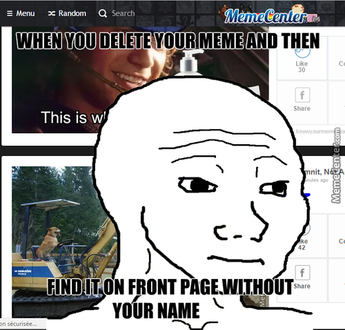 """When You Delete Your Meme And Then Find It On Front Page With """"recyclebin"""" Name"""