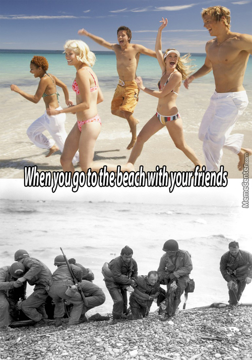 When You Go To The Beach With Your Friends