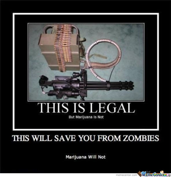 When Zombies Come, I'll Be Ready.