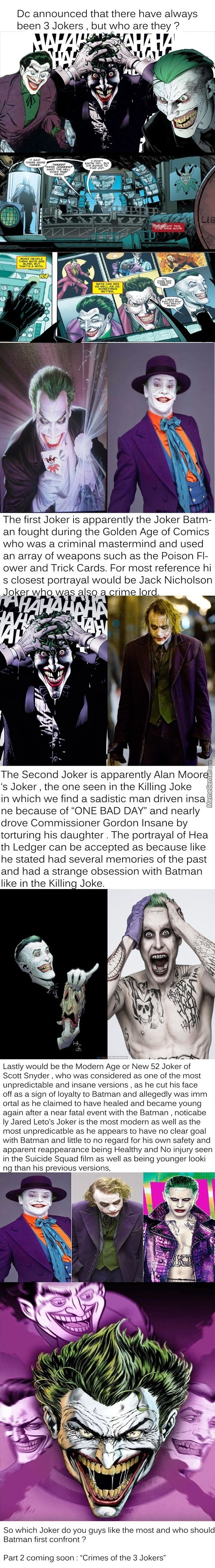 Who Are The 3 Jokers , Batman Has Been Fighting All These Years ?