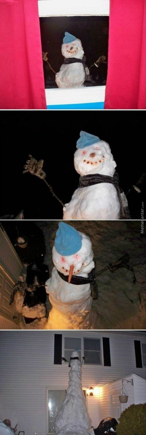 Who Build That Fucking Creepy Snowman?