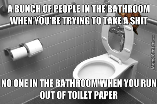 Who You Gonna Call When You Run Out Of Toilet Paper In A Public Bathroom??