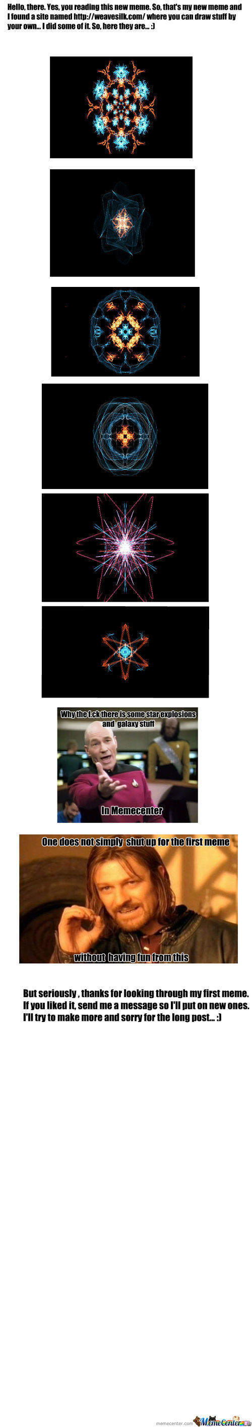 Whoa, Star Explosions And Galaxy Stuff In Memecenter...