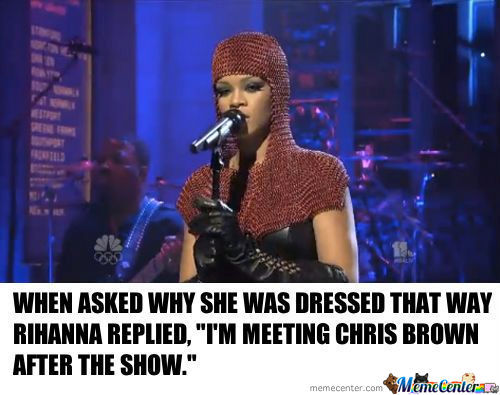Why Are You Wearing Chainmail Rihanna?