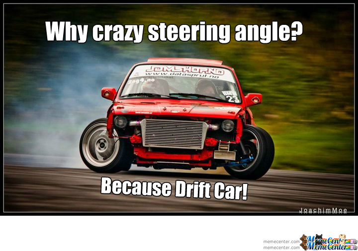 Why Crazy Steering Angle Because Drift Car By Dynodope