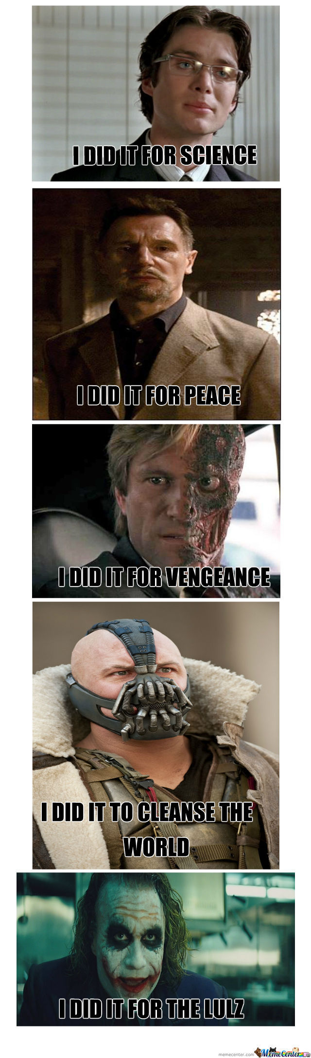 Why Dark Knight Villains Did It