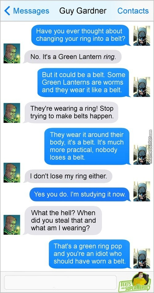 Why Did He Take The Ring? Because He's The Goddamn Batman!