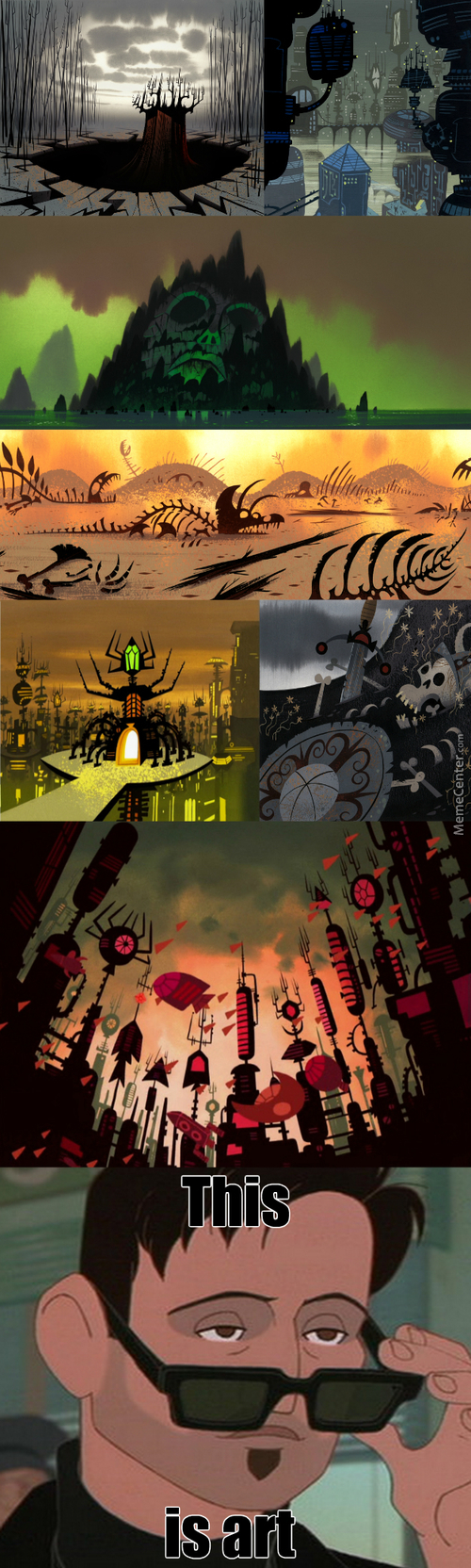 Why Every Samurai Jack's Background Looks So Beautiful?