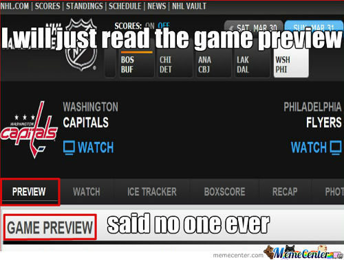 Why The Nhl Still Does The Game Preview I Don't Know
