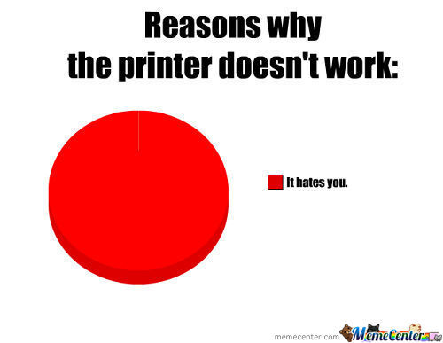 Why The Printer Doesn't Work