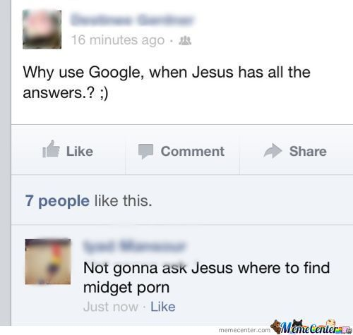 Why Use Google Instead Of Jesus?