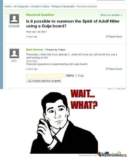 Why Would You Want To Summon Hitler In First Place?