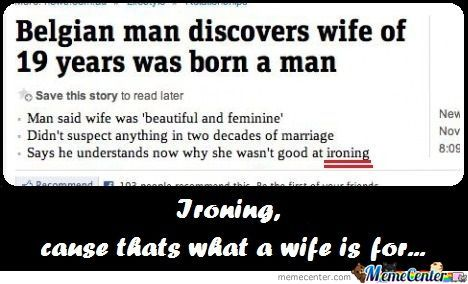 Wife - Just Ironing -_-