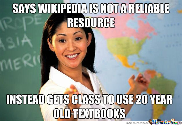 Wikipedia And Textbooks.
