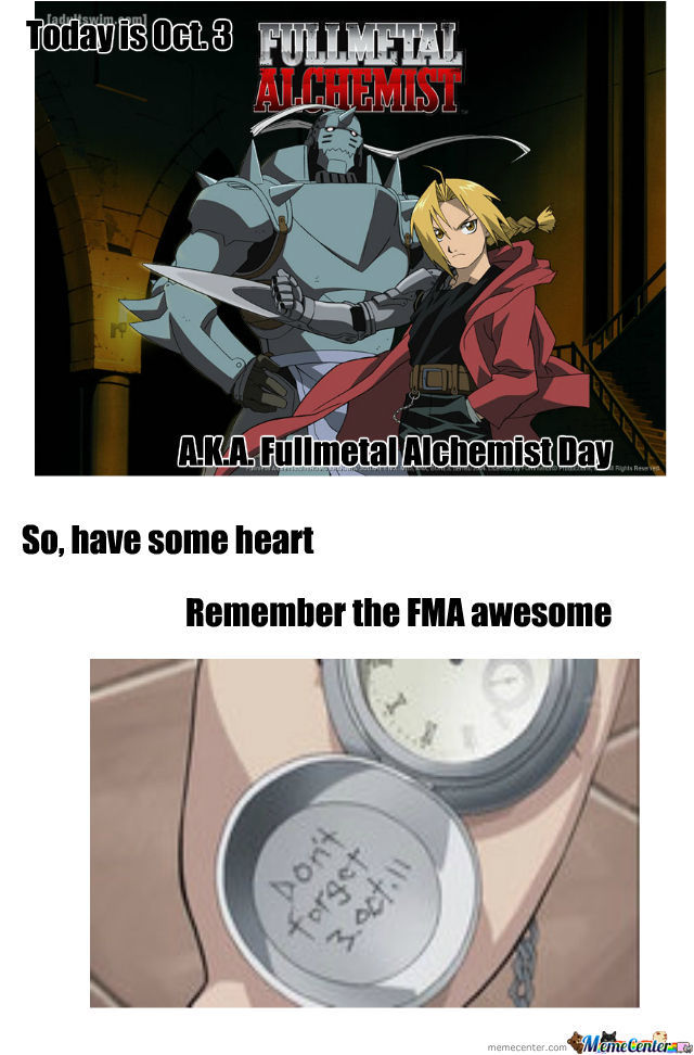 Will Always Remember Fma