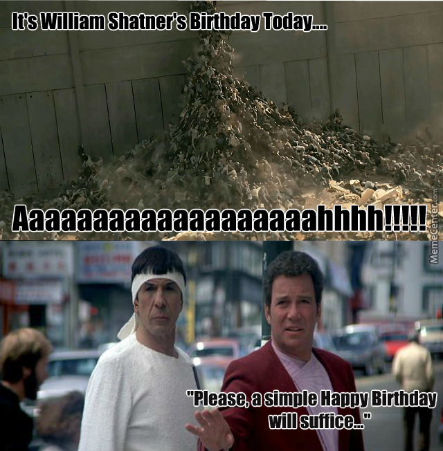 william shatners birthday crazy fans by