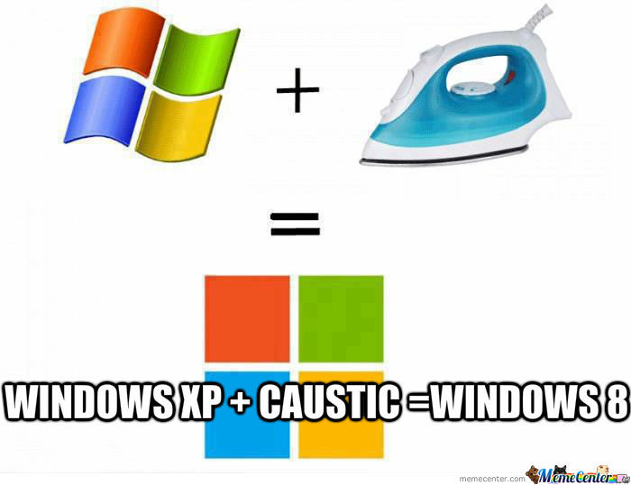 Windows Xp + Caustic = Windows 8
