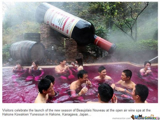 Wine Spa, I Want To Enjoy Such Wine