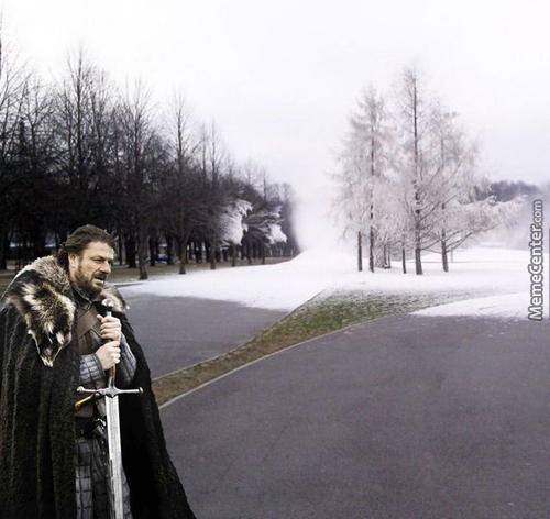 Winter Is Coming, Graphic Description