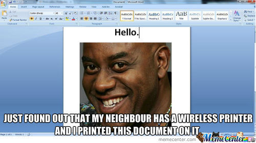 Wireless Printers These Days.
