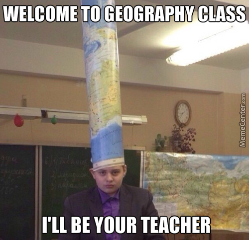 With Such A Top Geography 'chef' Hat, You Know You'll Learn Geography Till Death Occurs.