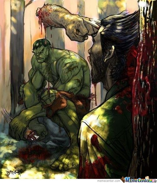 Wolverine High As F--- Thinks He Can Beat Hulk And Sh---
