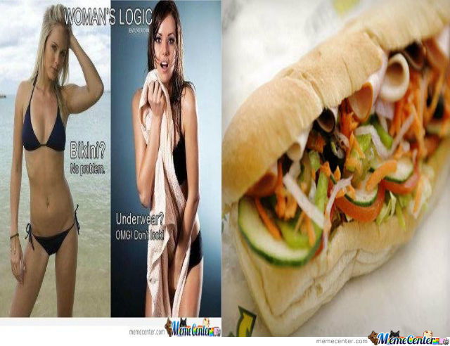 Women Have Their Logic, Men Have Sandwich Jokes