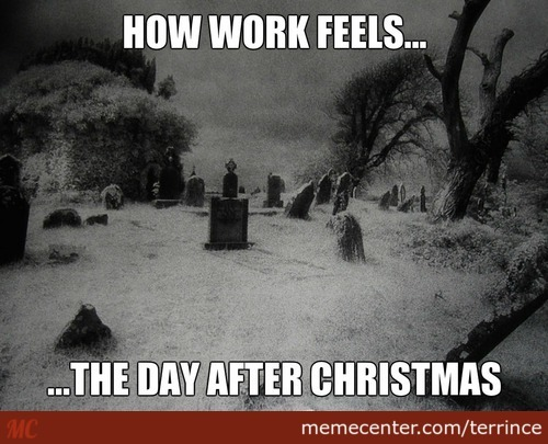 Working The Day After Christmas