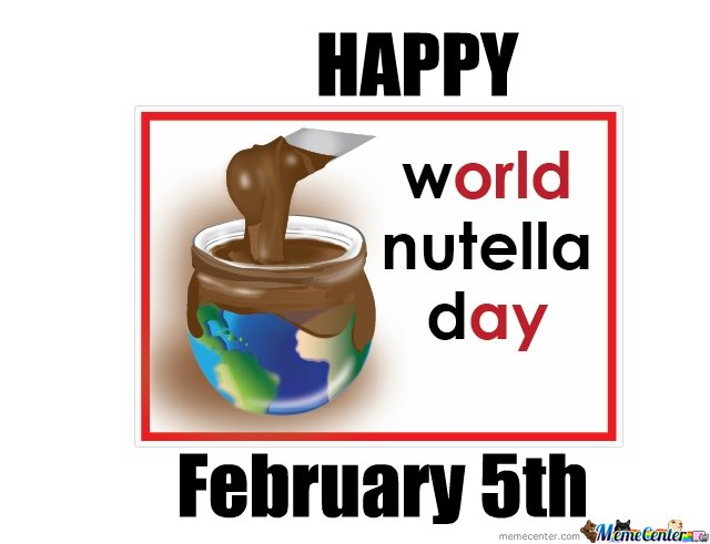world nutella day!