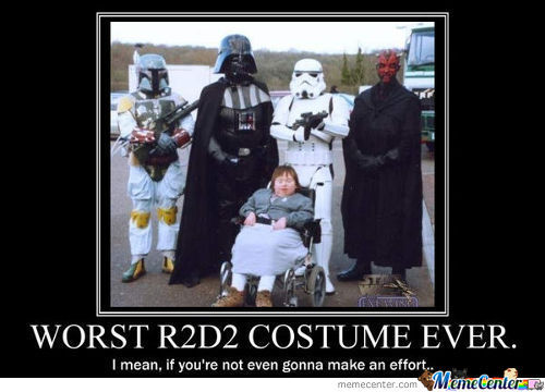 Worst R2 D2 Costume Ever