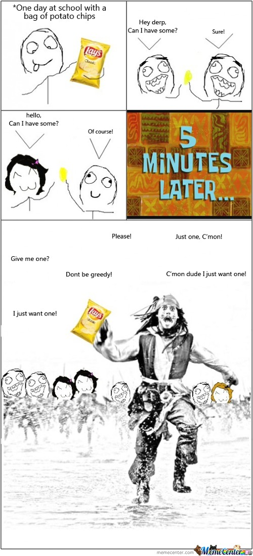 Worst Thing You Can Do In School Is Have Crisps