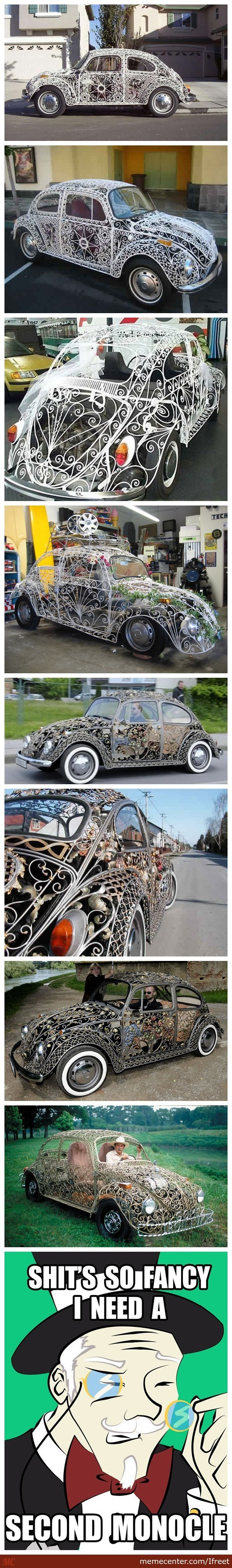 Wrought Iron Beetle Cars