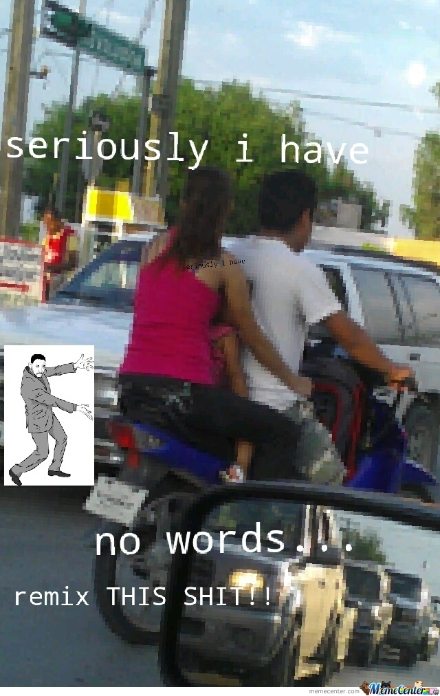 Wtf? Little Girl On A Motorcycle!!!??