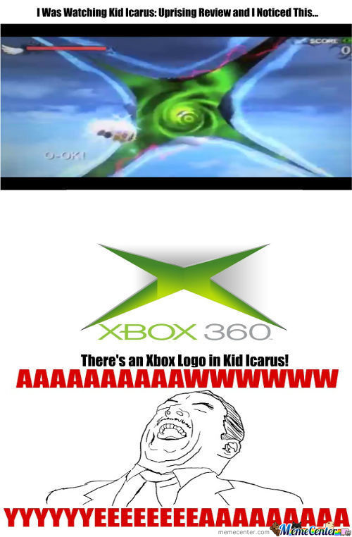 Xbox Logo In Kid Icarus: Uprising!