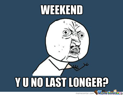 Y U No Think About It, Sunday?