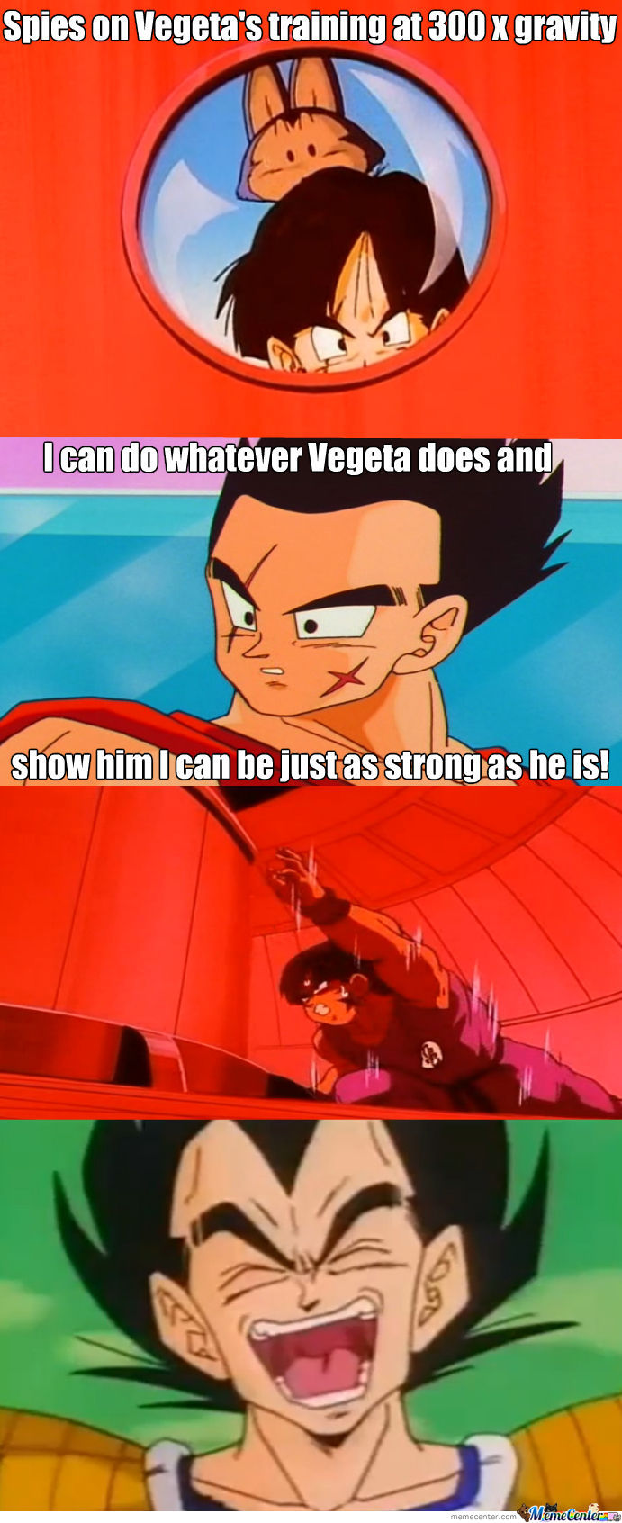 Yamcha Can't Keep Up With Vegeta