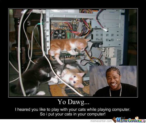 Yo Dawg - Cats In Computer