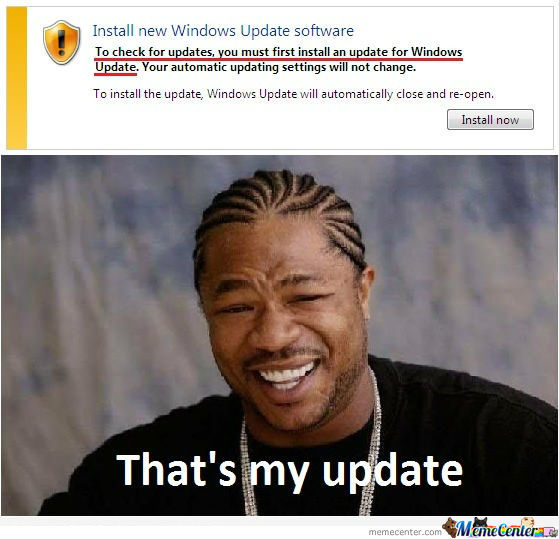 Yo Dawg , I Herd U Like Updates!