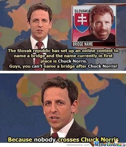 You Are Now Crossing Chuck Norris