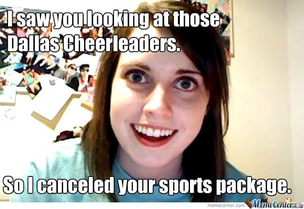 I saw you looking at those cheerleaders