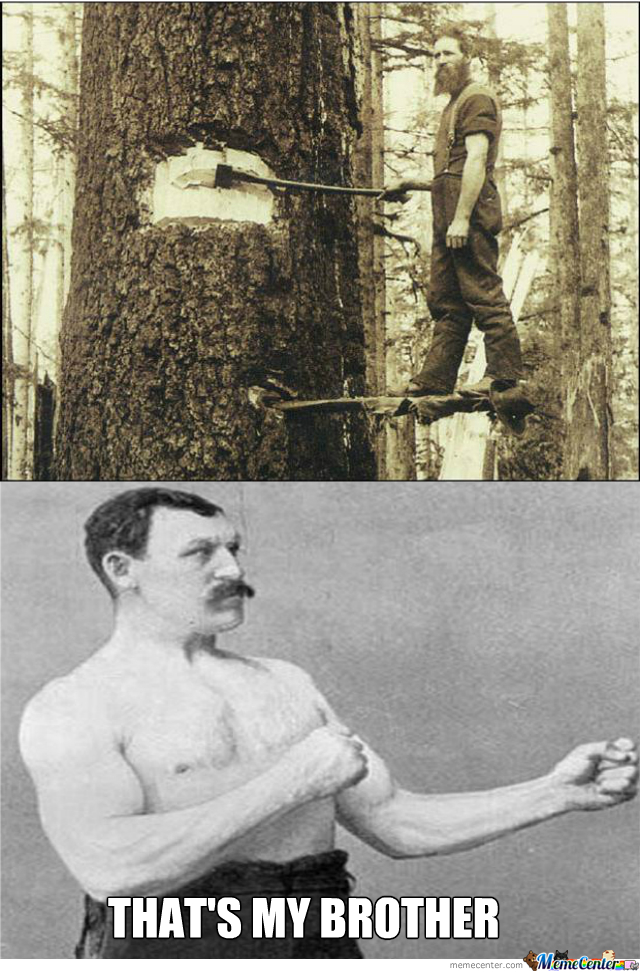 You Can Be Badass, But You Can Never Be As Badass As 'epic Beard Man Felling Big-Ass Tree With A Mere Axe'