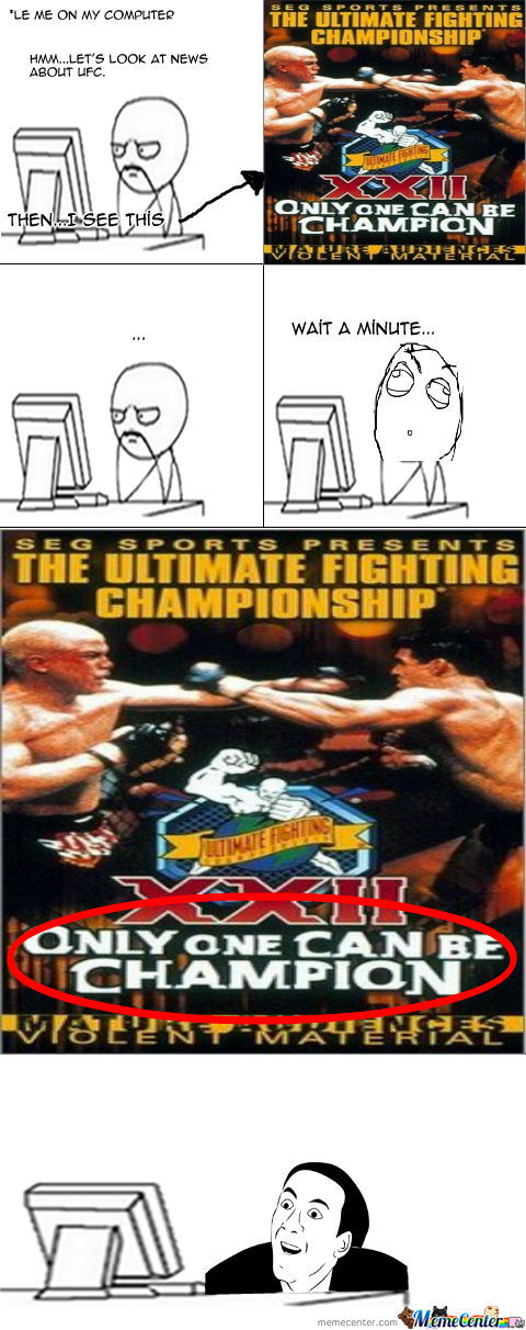You Don't Say, Ufc?