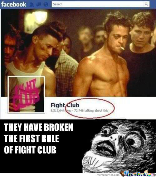 You Don't Talk About Fight Club... Unless You're On Facebook