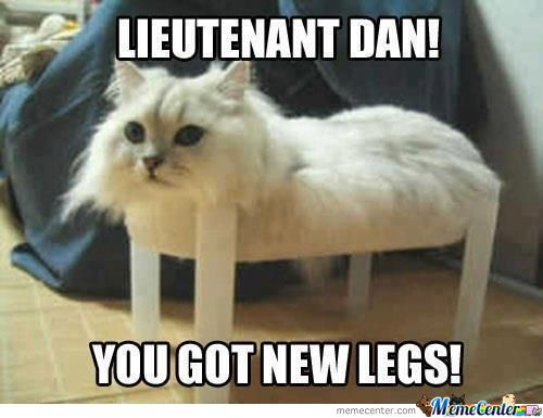 You Got New Legs!